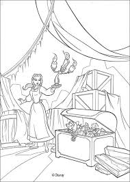 belle discovers christmas chest coloring pages hellokids