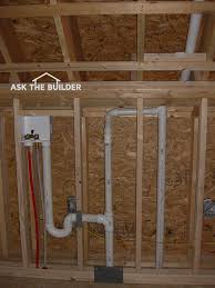 Basement Bathroom Vent Pipe Plumbing Vent Piping Tips Ask The Builderask The Builder