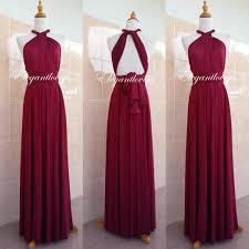 maroon dresses for wedding convertible dress maroon wedding dress bridesmaid dress infinity