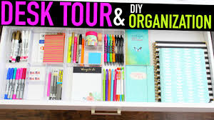 Desk Organization Diy Desk Tour Diy Organization