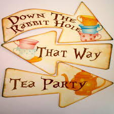 Mad Hatter Tea Party Centerpieces by 8 Alice In Wonderland Signs Arrows Quote Mad Hatters Tea Party