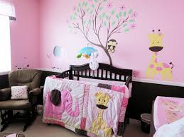 great cute animal theme baby room ideas for girls with black