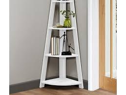 corner bookcase birlea nordic corner bookcase white