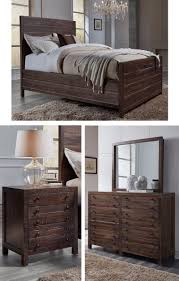 Solid Mahogany Bedroom Furniture by Crafted From Rough Hewn Solid Mahogany The Torsten Collection U0027s