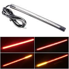 led strip lights for motorcycle 12v universal motorcycle 32 led 3528 smd led strip tail light red