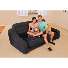 intex queen inflatable pull out sofa bed walmart com