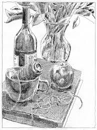 pencil drawing of flower vase pencil drawing collection