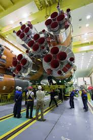 the soyuz rocket and soyuz ms 02 spacecraft are assembled nasa