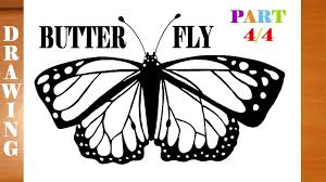 how to draw a butterfly step by step easy for kids realistic