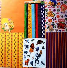 free disney lion king scrapbook papers stickers kit