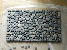 River Rock Bathroom Ideas Ocean Stone Bath Mat