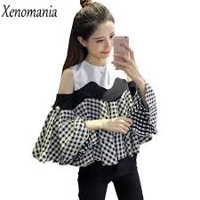 cold shoulder tops cold shoulder tops shoulder top blusas 2017 korean kimono