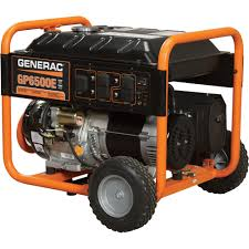 free shipping u2014 generac gp6500e portable generator u2014 8125 surge