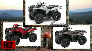 official 2017 honda atv models lineup announcement review