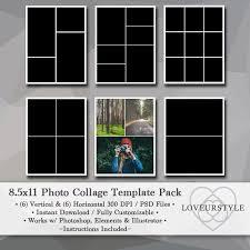 8 5 x 11 photo album 8 5x11 photo template pack collage templates portfolio