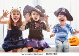 Brother Sister Halloween Costume Happy Brother Sisters Halloween Stock Photo 482297056