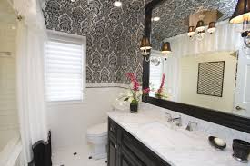 Wallpaper Ideas For Small Bathroom Modern Black And White Bathroom Wallpaper Staggering Appealing For