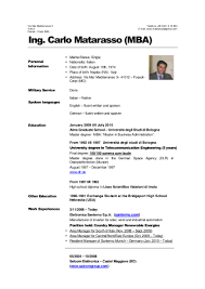 Sample Resume For Computer Science Graduate by Carlo Matarasso Mba Cv Jan 11 Eng