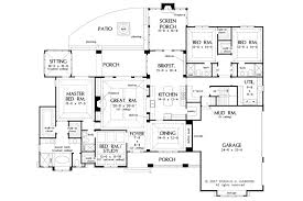 country floor plans craftsman style house plan 4 beds 4 00 baths 3048 sq ft plan 929 1