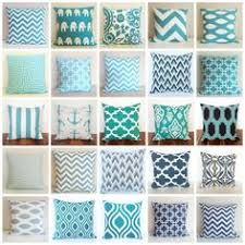 turquoise pillow covers set of two turquoise blue and white