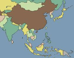 asia map no labels asia map no names major tourist attractions maps