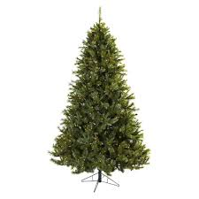 natural 7 1 2 ft majestic pine pre lit artificial christmas tree