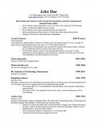 examples of business resumes sample basic resume template