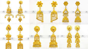 gold jhumka earrings gold jhumka earrings 22kt gold jhumka jhumka for wedding
