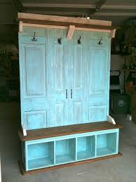 of old closet doors and old butcher block kitchen table old