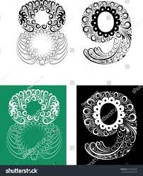 number ornaments 89 easy change color stock vector 106104905