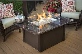 Fire Pit Glass Stones by Stone Fire Pit Table Brown Metal Base British Granite Top