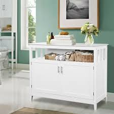 white storage cabinet for kitchen costway modern kitchen storage cabinet buffet server table sideboard dining wood white