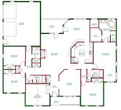 One Level Luxury House Plans Single Story Open Floor Plans Plan Single Level One Story