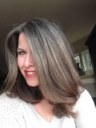 high lighted hair with gray roots growing out gray hair 14 months of growth february 2015 this
