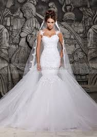 cheap wedding dresses uk only mermaid spaghetti sweetheart appliqued yarn wedding dresses