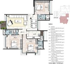 1700 sq ft 3 bhk floor plan image ahuja altus available rs