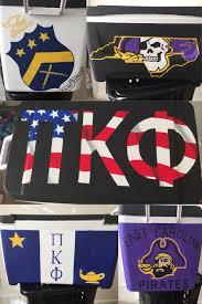 Georgia Flag Chubbies Pi Kappa Phi Fraternity East Carolina Painted Cooler Coolers