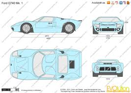the blueprints com vector drawing ford gt40 mk 1
