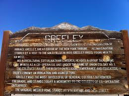 Map Of Greeley Colorado by History Of Greeley Colorado For Kids
