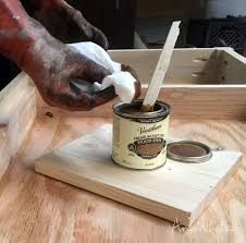 how to stain unfinished pine how i stain wood staining wood wood diy simple