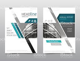 annual report brochure template leaflet layout modern design a4