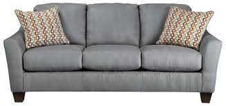 Signature By Ashley Sofa by Contemporary Queen Sofa Sleeper With Flared Arms By Signature
