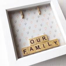 our family scrabble frame scrabble art box frame family