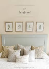 How To Make A Door Headboard by Blueberry Diy U2014 Style Me Green