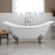 Bathroom With Wainscoting Ideas Bathroom 71 Inch Bell Brook Cast Iron Clawfoot Tub With Lion Paw
