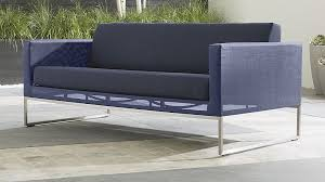 Outdoor Sofa With Chaise Dune Navy Outdoor Fabric Sofa Crate And Barrel