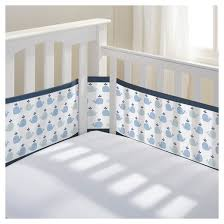 breathablebaby mesh crib liner little whale navy target