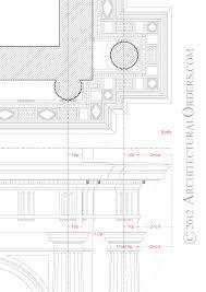 denticulated doric soffit and entablature detail doric order