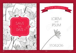 save the date birthday cards set of vector floral save the date greeting card