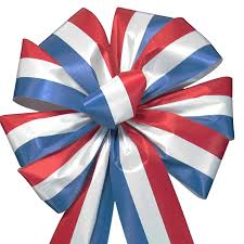 white blue ribbon bows white blue bows tricolor outdoor poly satin
